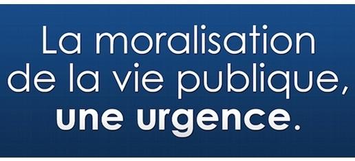 Moraliser la vie publique, une urgence !