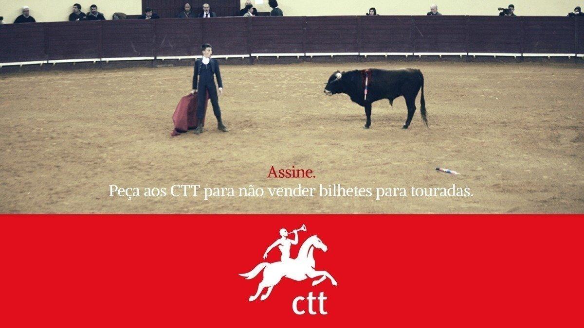 CTT - Correios de Portugal, SA: Deixem de vender bilhetes para touradas