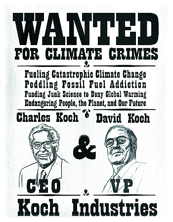 Greenpeace Koch Brothers Wanted Poster