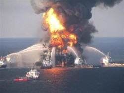 Leaking Oil Rig Threatens Disaster In The Gulf of Mexico