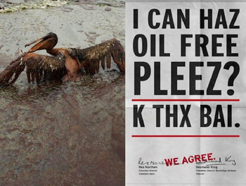 Lolcat punking of Chevron's 'We Agree' ad campaign